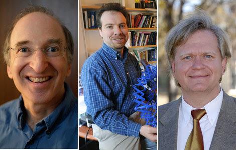 Saul Permutter, Adam Riess y Brian P. Schmidt, los ganadores del Nobel de Física. | AP / Efe