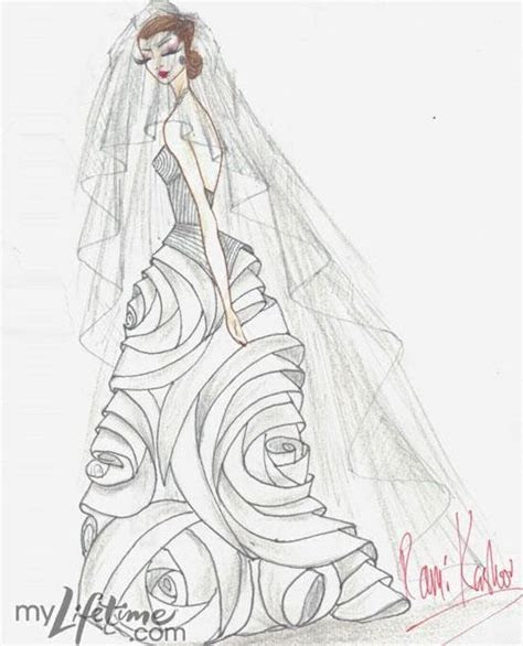 Wedding Dress Sketch for Catherine Middleton   Rami Kashou
