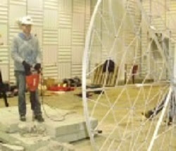 Noise source location testing of jackhammers using multiple microphone array technology