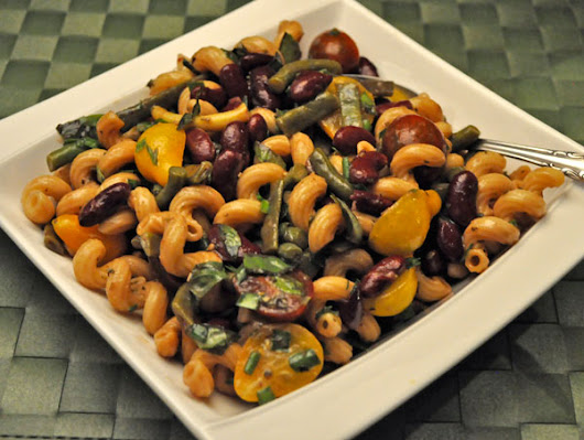 Red & Green Bean Pasta Salad; the pool - Thyme for Cooking, Blog