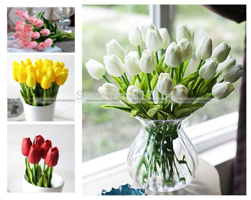 Best Wholesale Tulip Artificial Flower Real Touch Latex Bridal Wedding Bouquet Home Decor
