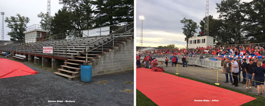 New Press Box & Grandstand Bleachers for Juniata High School in Pennsylvania