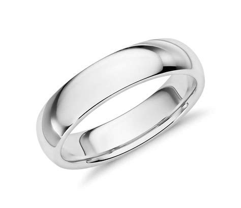 Comfort Fit Wedding Ring in Palladium (5mm)   Blue Nile