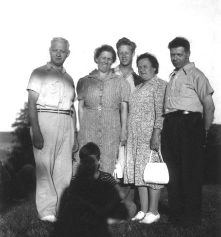 Earliest shot of Abner with family