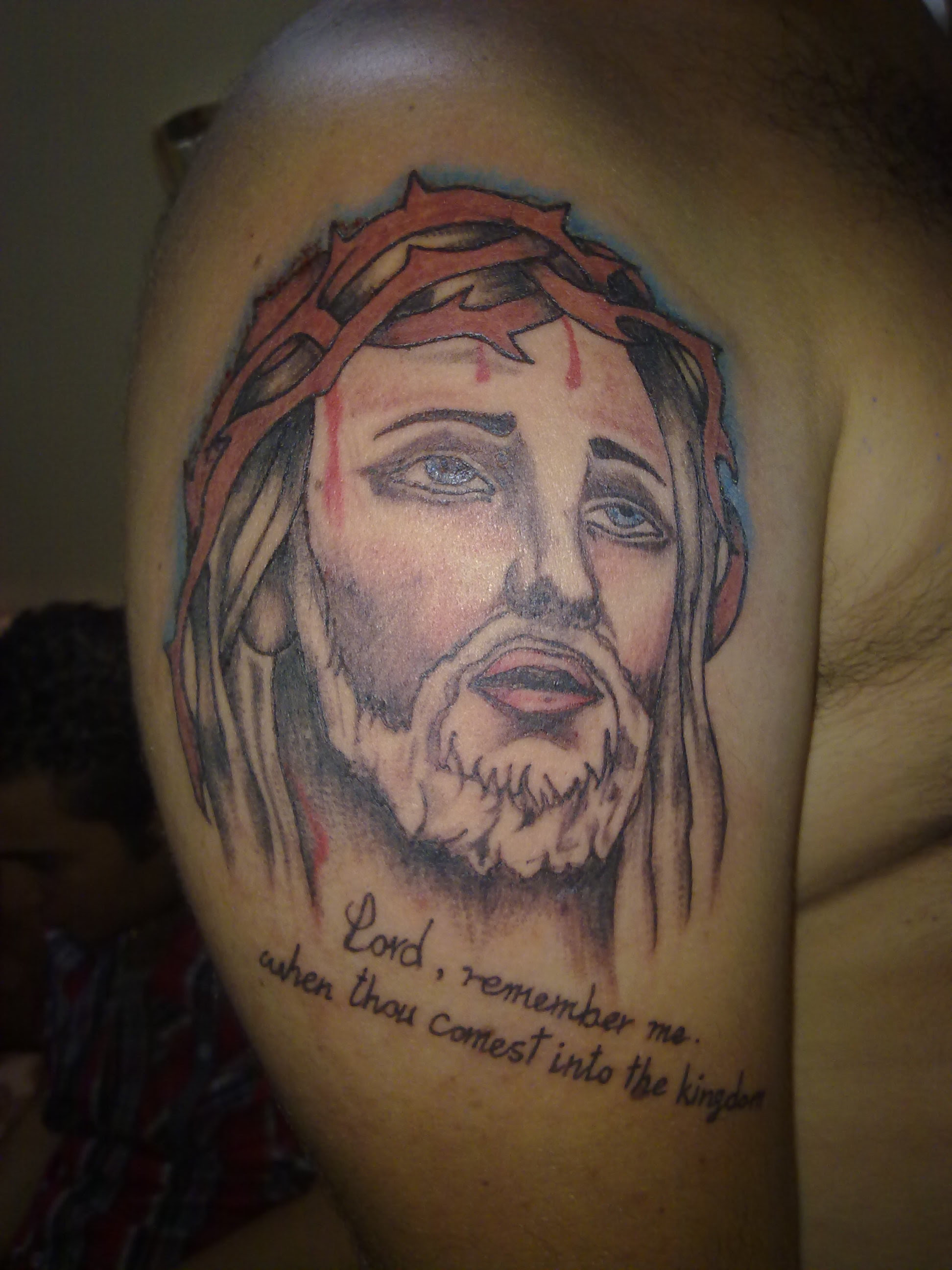 Jesus Tattoo Design On Shoulder