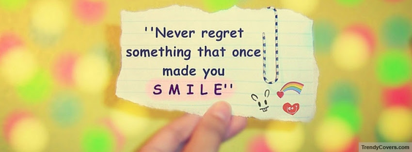 Never Regret Facebook Cover Trendycoverscom
