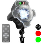 Viatek Consumer Products 239085 LED White Snowfall with Laser Lights Red & Green