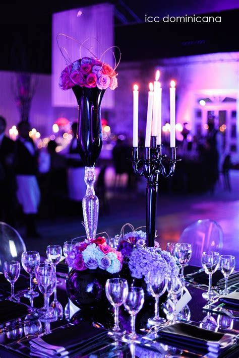purple, fuschia and turquoise wedding decoration with