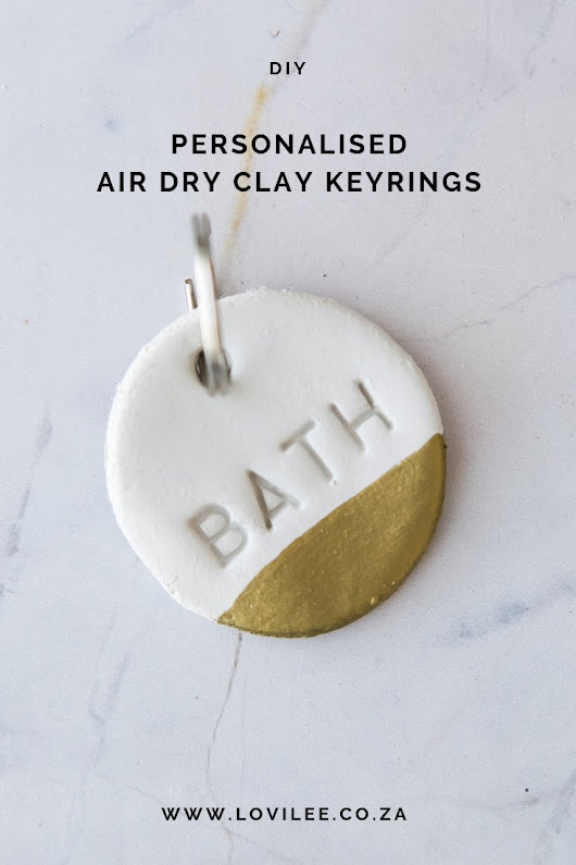 Get your pretty on with these Minimalist DIY keyrings! | Lovilee Blog