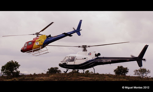 Double Heli liftoff! by Miguel Montes