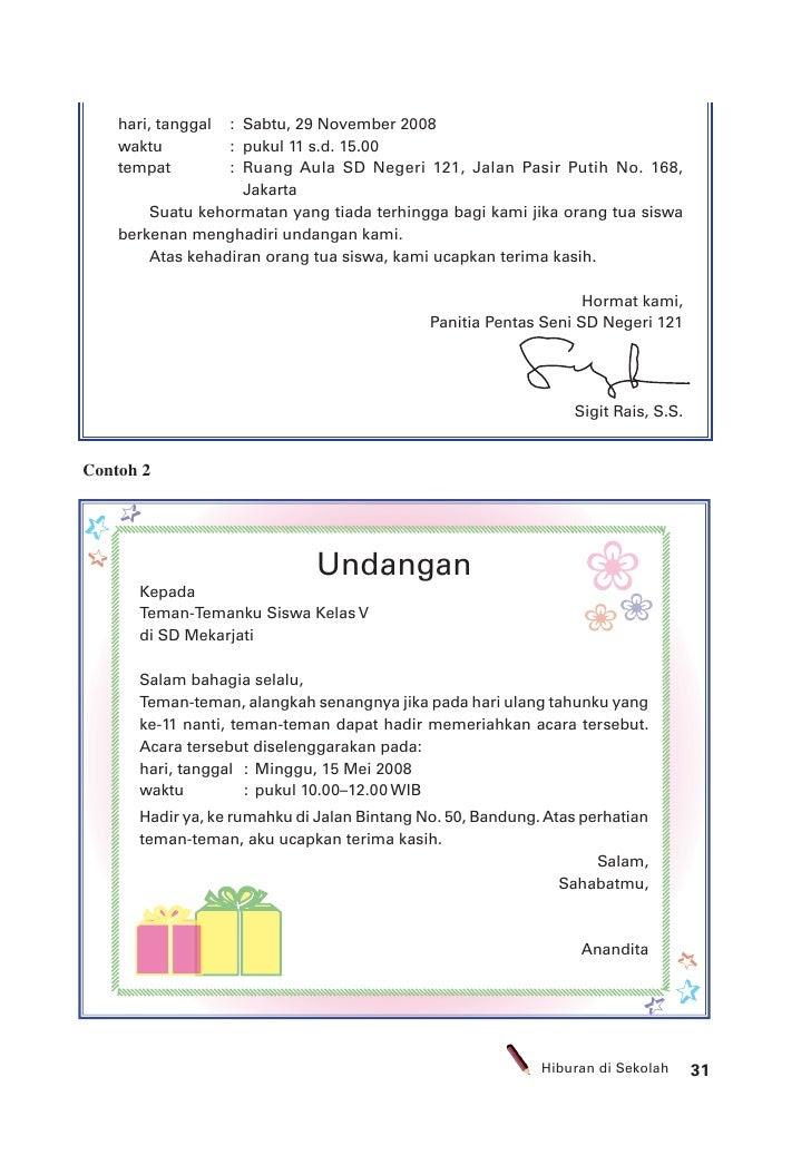 46 Contoh Surat Izin Sakit Dan Keperluan Keluarga Bahasa Sunda Lemes Contoh Surat Undangan Ulang Tahun Bahasa Sunda