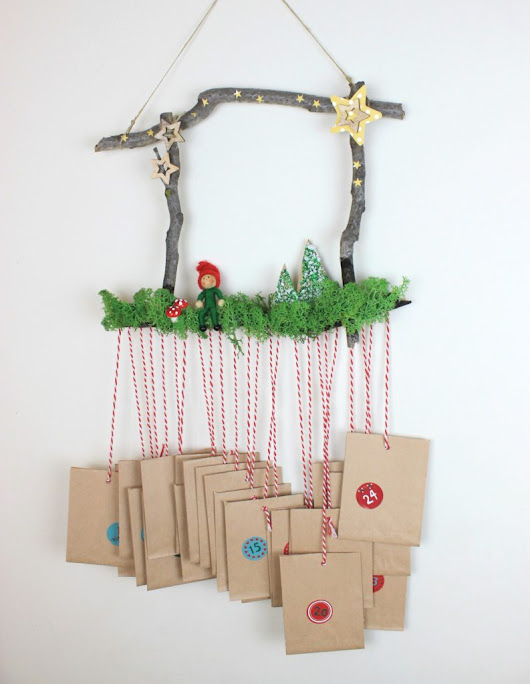 DIY Christmas Advent Calendar with materials from the Nature