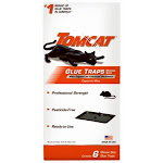 Tomcat 0362610 Glue Traps Mouse Size With Eugenol For Enhanced Stickiness, 6-pk