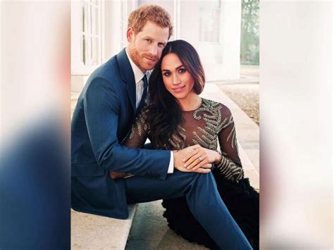 Prince Harry and Meghan Markle pose in candid engagement