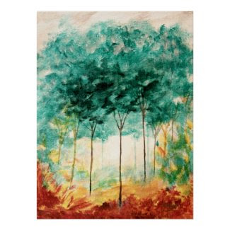 A Stroll In The Park Large Art Print Painting
