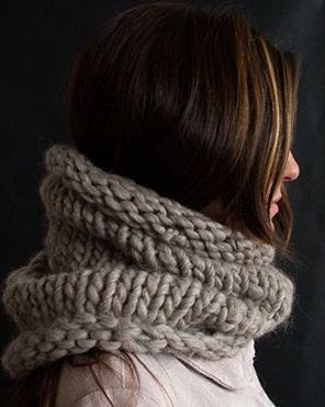 DIY - simple super bulky cowl scarf. Learn to knit...and then teach what you've learned!