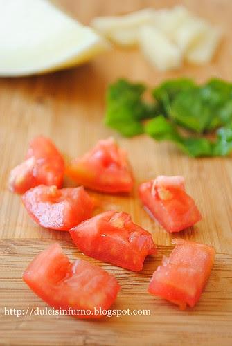Pomodori, Basilico, Caciocavallo-Tomatoes, Basil, Caciocavallo Cheese