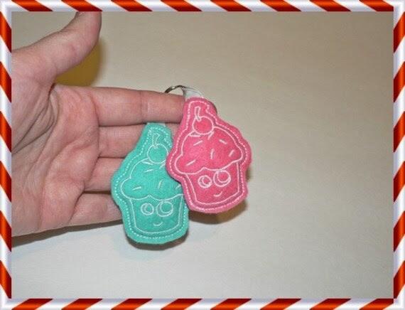 2 Keychain cupkake