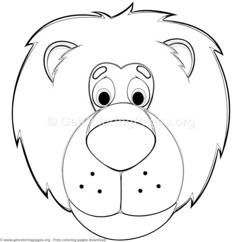 lion animal face mask coloring pages getcoloringpagesorg