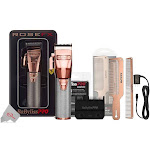 BaByliss PRO FX870RG Cordless Adjustable Clipper Rose Gold with Replacement Blade Bundle