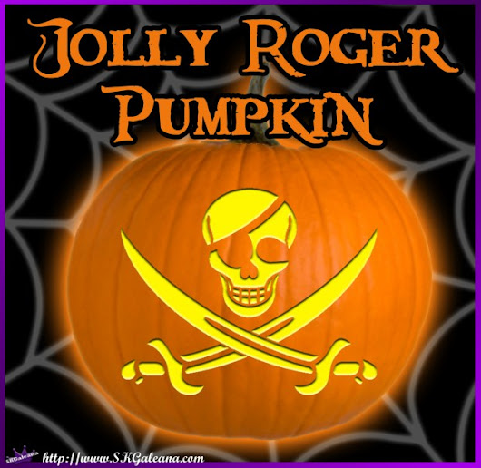Printable Jolly Roger Pumpkin Template