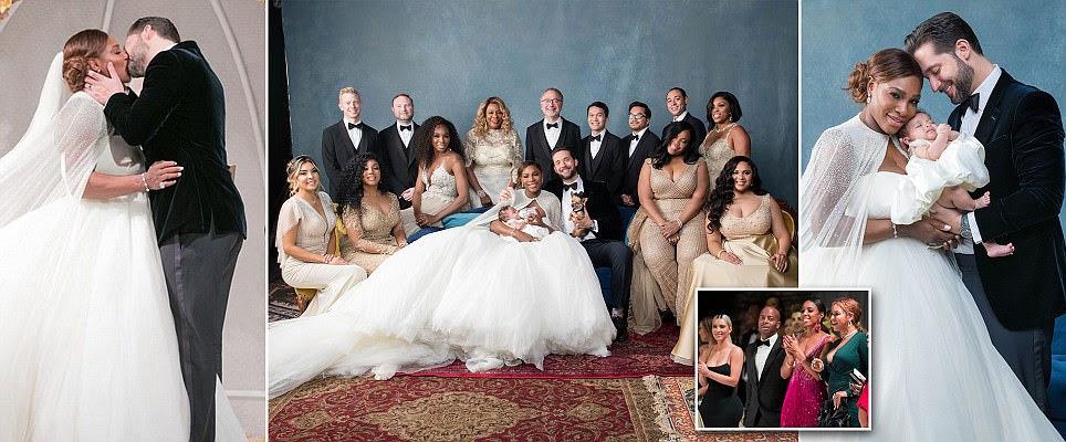 Serena Williams revela vestido depois da festa pós-casamento