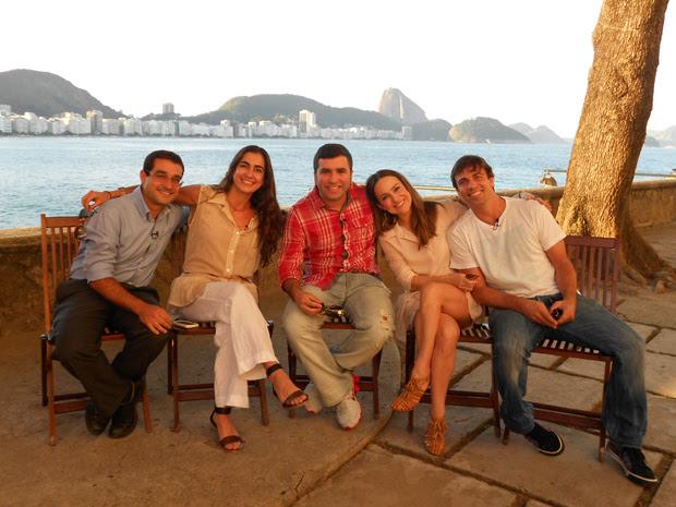 Os atores reunidos para a entrevista (Foto: Viva)