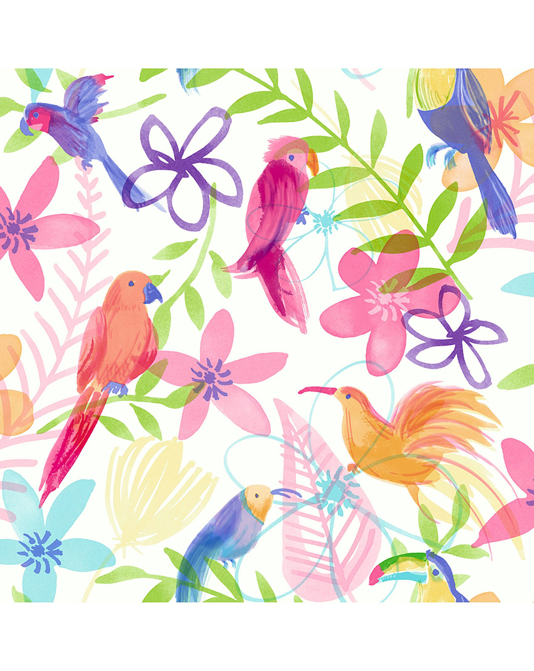 Arthouse Polly Parrot Wallpaper Marisota