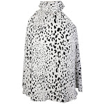 Inc International Concepts White Black Printed Tie Neck Halter Top 2