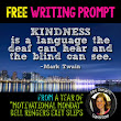 Free Kindness Quote Writing Prompt
