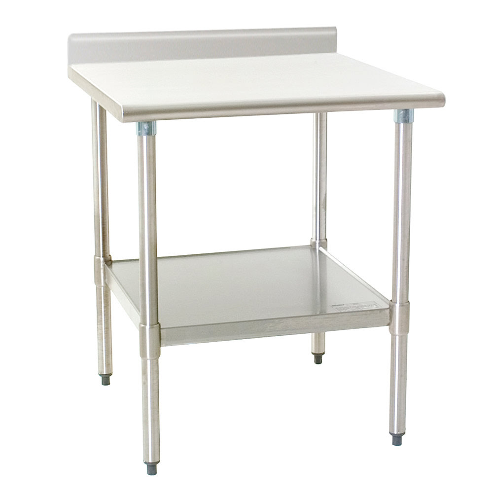 """Eagle Group T2424E-BS 24"""" x 24"""" Stainless Steel Work Table ..."""