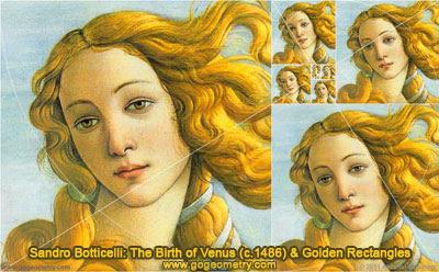 Sandro Boticelli: The Birth of Venus (c. 1486) and Golden Rectangles