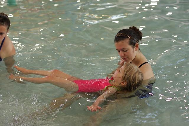 C's very first swim class