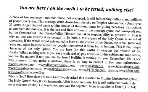 on earth tested