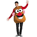 Disguise Mr. or Mrs. Potato Head Deluxe Adult Costume, Brown