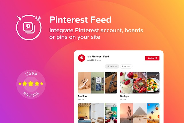 WordPress Pinterest Feed Plugin by Elfsight