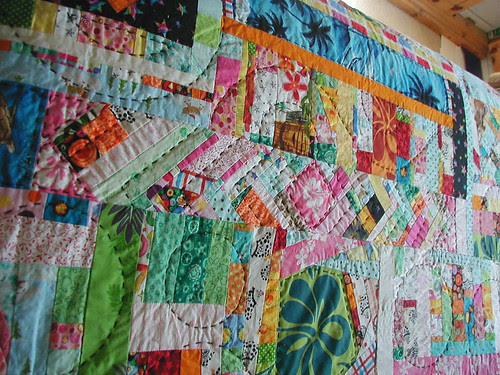 Wavy quilting and fun piecing