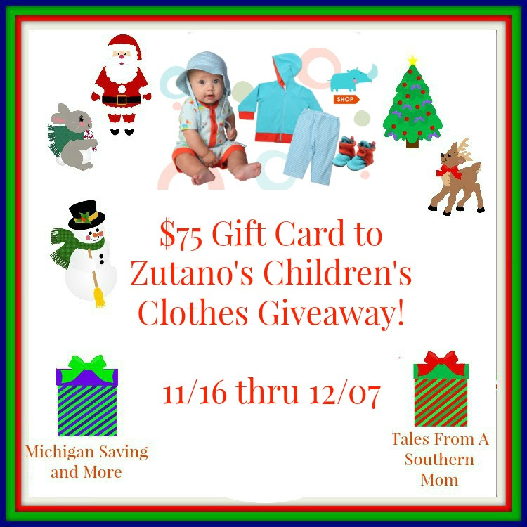 Enter the Zutano's Children's Clothing Giveaway. Ends 12/7