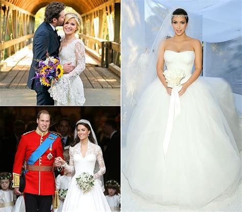 15 Best Traditional Celebrity Wedding Dresses of All Time