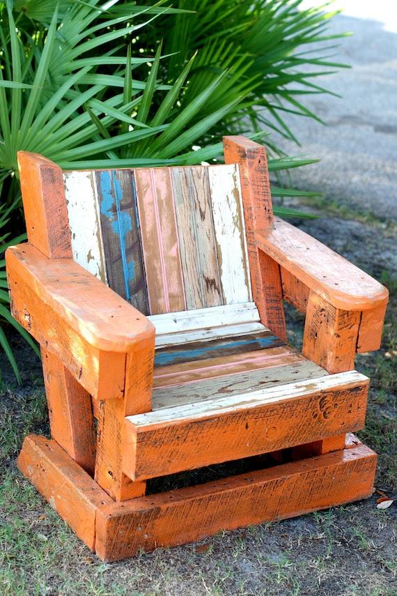 Reclaimed Beadboard Adirondack Chair Child Outdoor Furniture