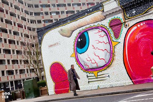 London Street artist Sweet Too Mural in London. Photo ©Hookedblog / Mark Rigney