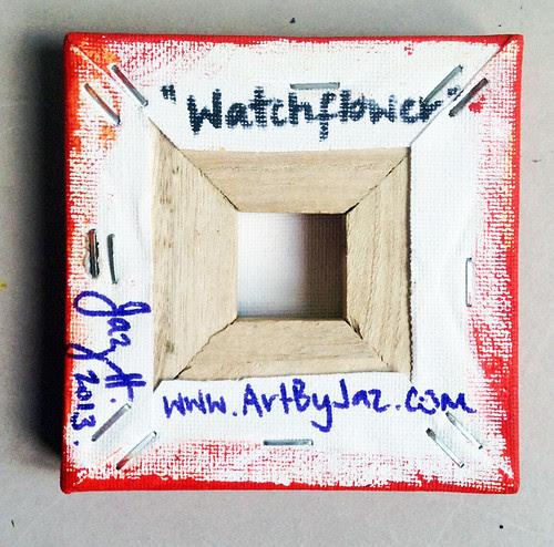 """Watch Flower"" original mini painting by Jaz Higgins"