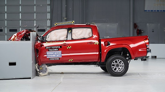Toyota Tacoma leads small pickups in latest IIHS crash tests