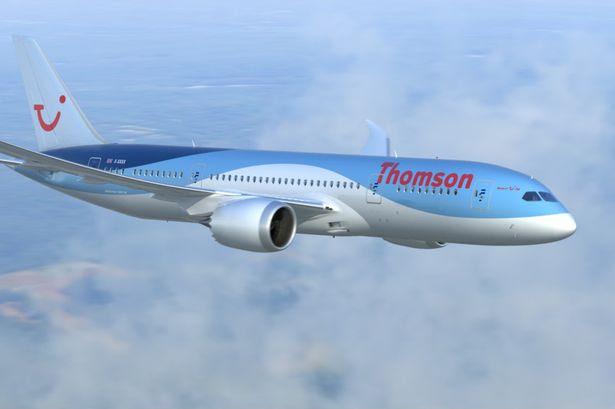 Thomson plane jet passenger airline