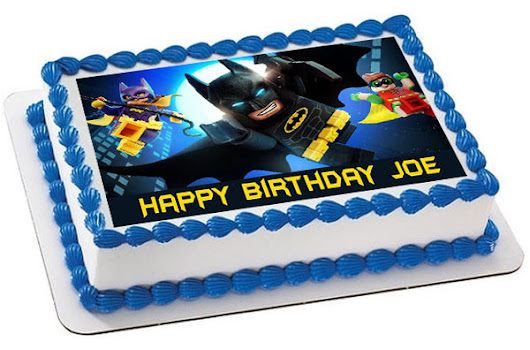 The lego batman movie 2 Edible Cake Topper & Cupcake Toppers – Edible Prints On Cake (EPoC)