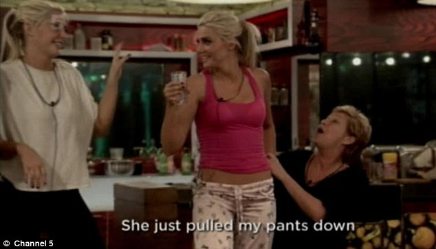 Argumentative: The trouble began when Denise Welch pulled Karissa's pants down earlier in the night