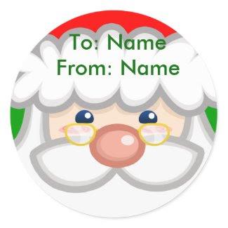 Cheery Santa Sticker sticker