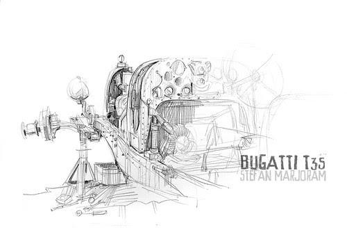 Bugatti T35 no body 2s by Stefan Marjoram