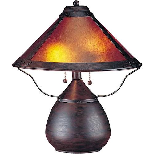Cal Lighting Mica Table Lamp - Rust - BO-464