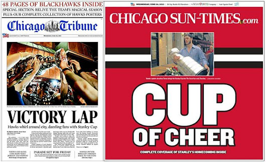 Chicago Tribune and Sun-Times Covers After the Stanley Cup Finals - PetaPixel